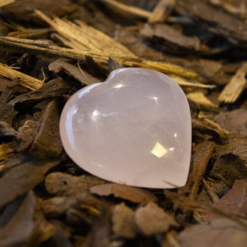 rozenkwarts edelstenen gepolijst in hartvorm cadeau