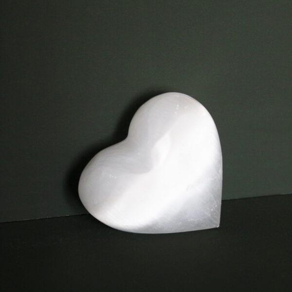 seleniet edelstenen gepolijst in hartvorm cadeau