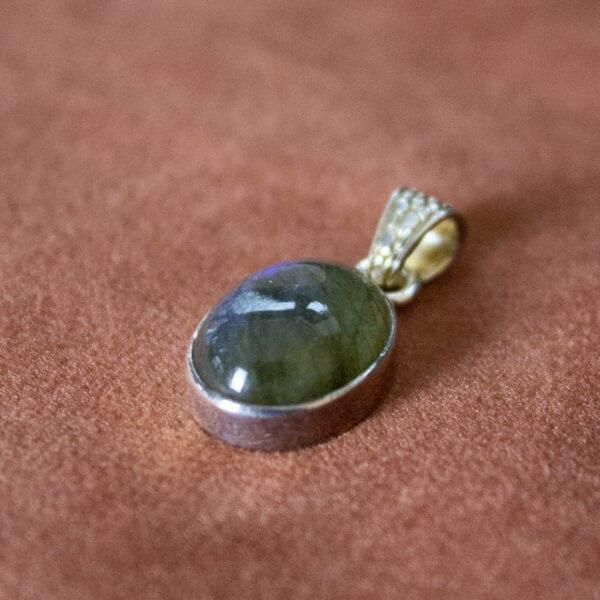 925 sterling zilveren hanger gepolijste edelstenen