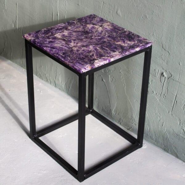 luxueuze amethist tafels interieur