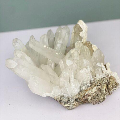 bergkristal punt cluster zuivering reiniging genezing heling