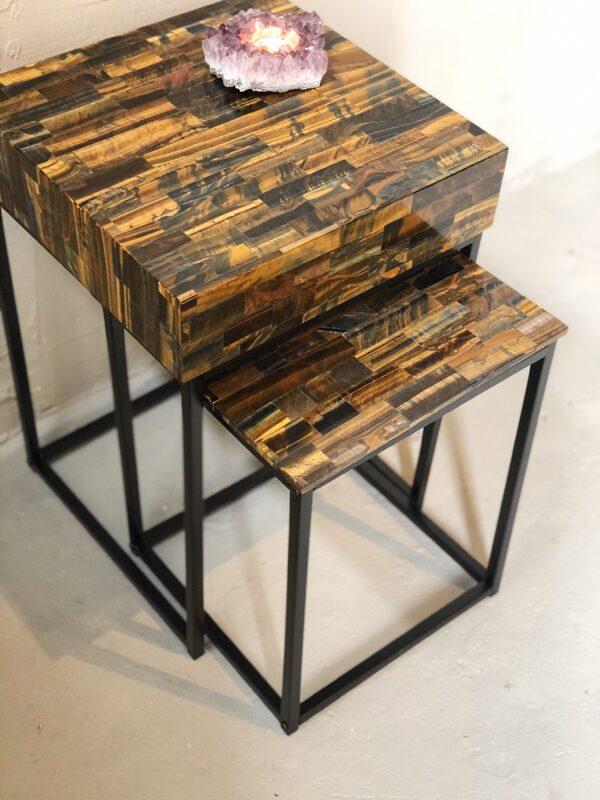 luxueuze tijgeroog tafels interieur