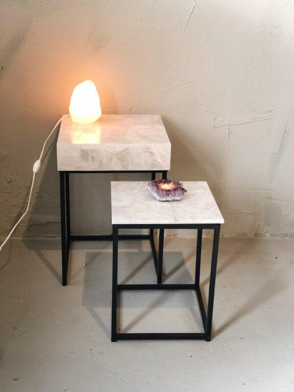 luxueuze bergkristal tafels interieur