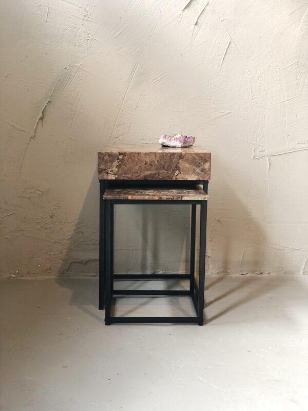 luxueuze versteend hout tafels interieur