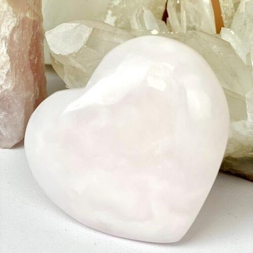 mangano calciet edelstenen gepolijst in hartvorm cadeau