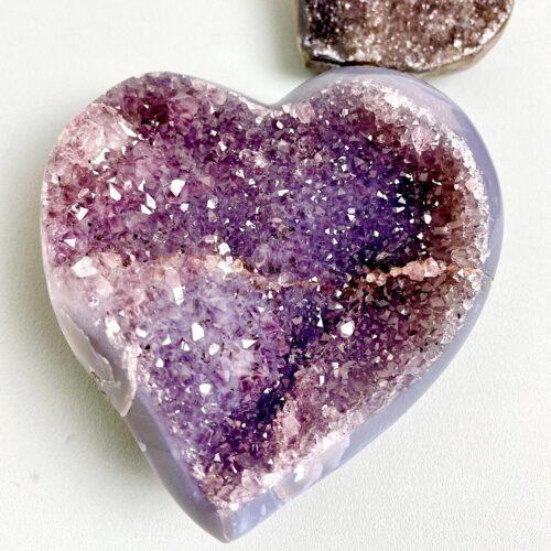 Amethist hart uniek verbinding bescherming zuivering