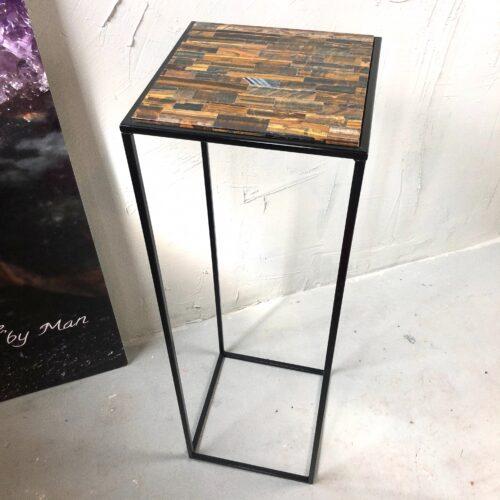 luxueuze tijgeroog sokkel tafel interieur